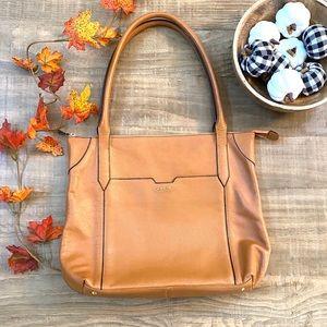 LODIS Siera Leather Travel Tote Bag